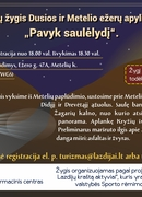 """Bicycle hike around Dusia and Metelis lakes """"Succeed at sunset"""""""