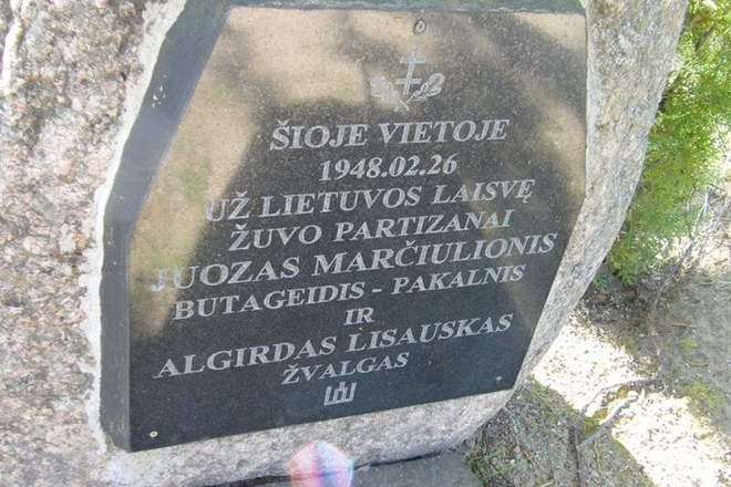 Lietuvos partizanų Juozo Marčiulionio-Pakalnio ir Algirdo Lisausko-Žvalgo kovos ir žūties vieta
