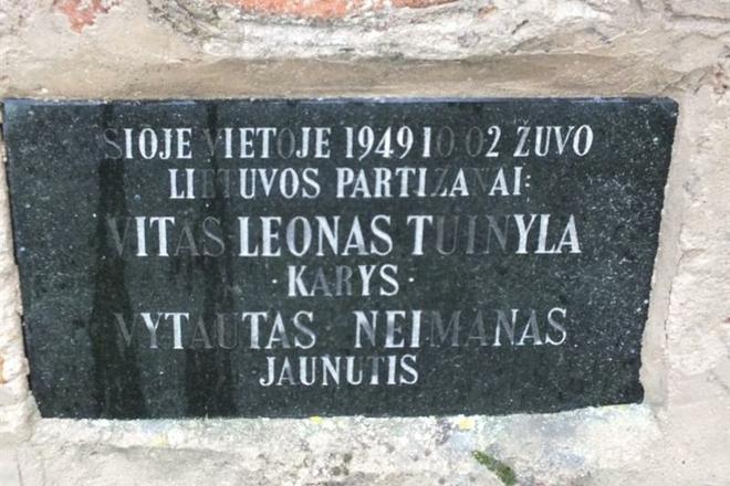 Lietuvos partizanų Vytauto Neimano-Jaunučio ir Vytauto Tuinylos-Kario kovos ir žūties vieta