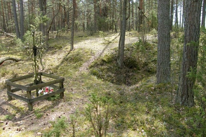 Place of Lithuanian partisan fighting and death (Pertak village)