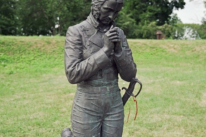 Emilijos Pliaterytės paminklas Vainežerio dvaro parke